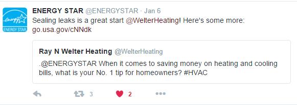 ENERGY STAR Tweet on Sealing Leaks