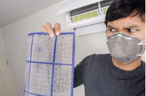 Homeowner suffering from poor indoor air quality