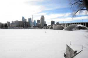 Twin Cities Skyline in Winter
