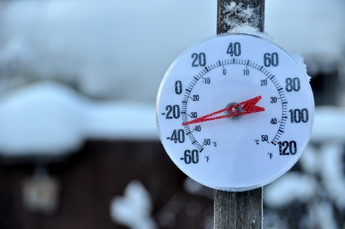 Thermometer Showing -30 Degrees