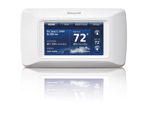 A Honeywell WiFi Thermostat