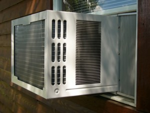 A window air conditioner is an alternative to central air conditioning