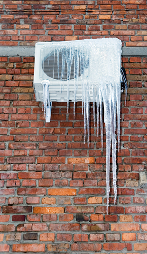 An air conditioner freezing up