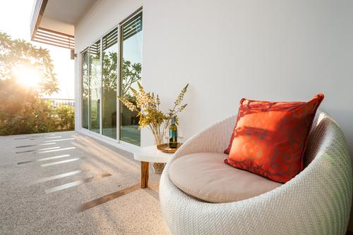 Sun Shining on Home Patio
