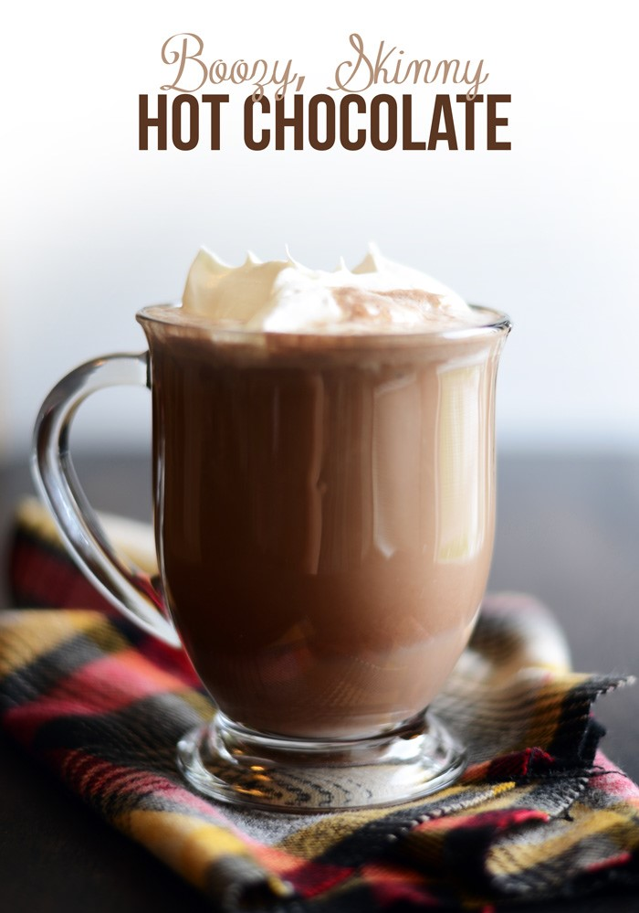 Boozy Skinny Hot Chocolate