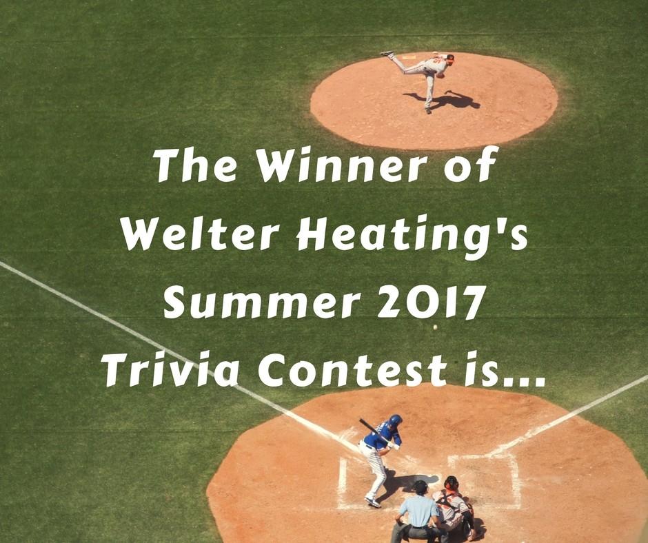 Summer 2017 Trivia Contest Winner Announcement