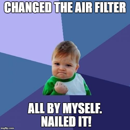 Changed the filter all by myself. Nailed it!