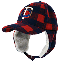 Twins Plaid Flap Cap