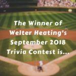 September 2018 Trivia Contest Winner Announcement