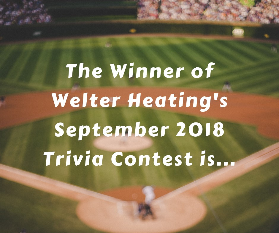 September 2018 Trivia Contest Winner Announcement