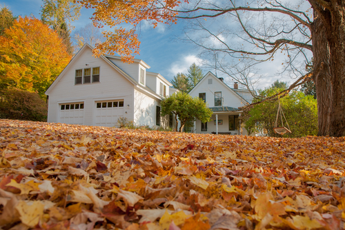 A Picture of a Home During Fall