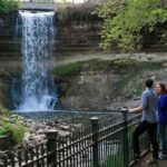 Minnehaha Falls at its Strongest in in the Spring.