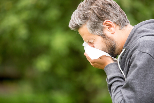 Sneezing Man Wants to Know How to Stop Allergies