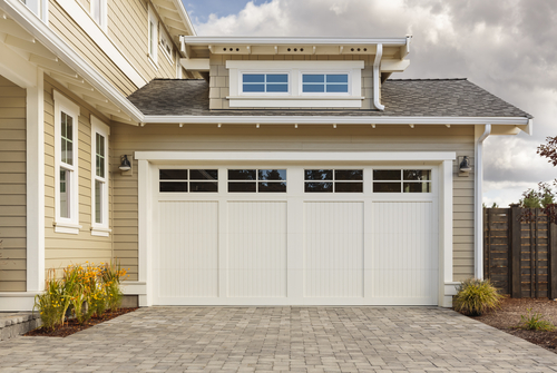 Outside View of Suburban Garage